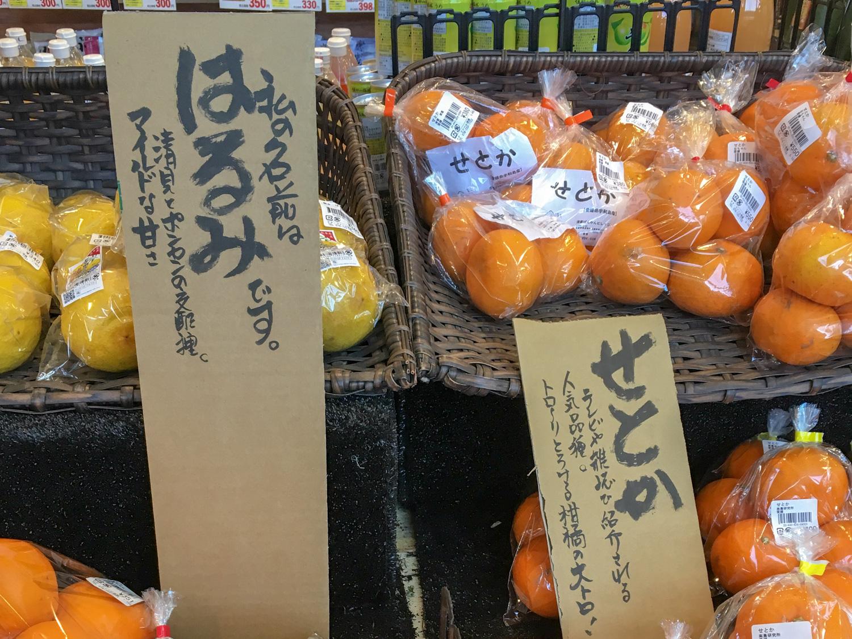 ナナ・ファーム須磨の果物売り場